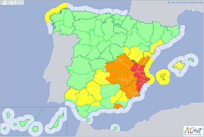 La provincia de Albacete se lleva la peor parte por las lluvias caídas en las últimas horas en Castilla-La Mancha
