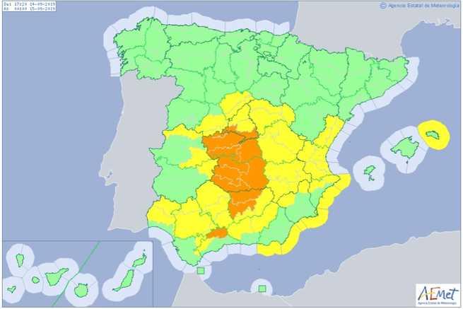 45 incidencias registradas en las provincias de Ciudad Real, Cuenca, Toledo y Albacete a causa de las lluvias
