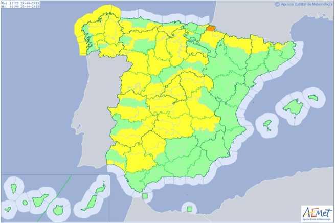 Alerta amarilla para el miércoles por rachas muy fuertes de viento en gran parte de Castilla-La Mancha