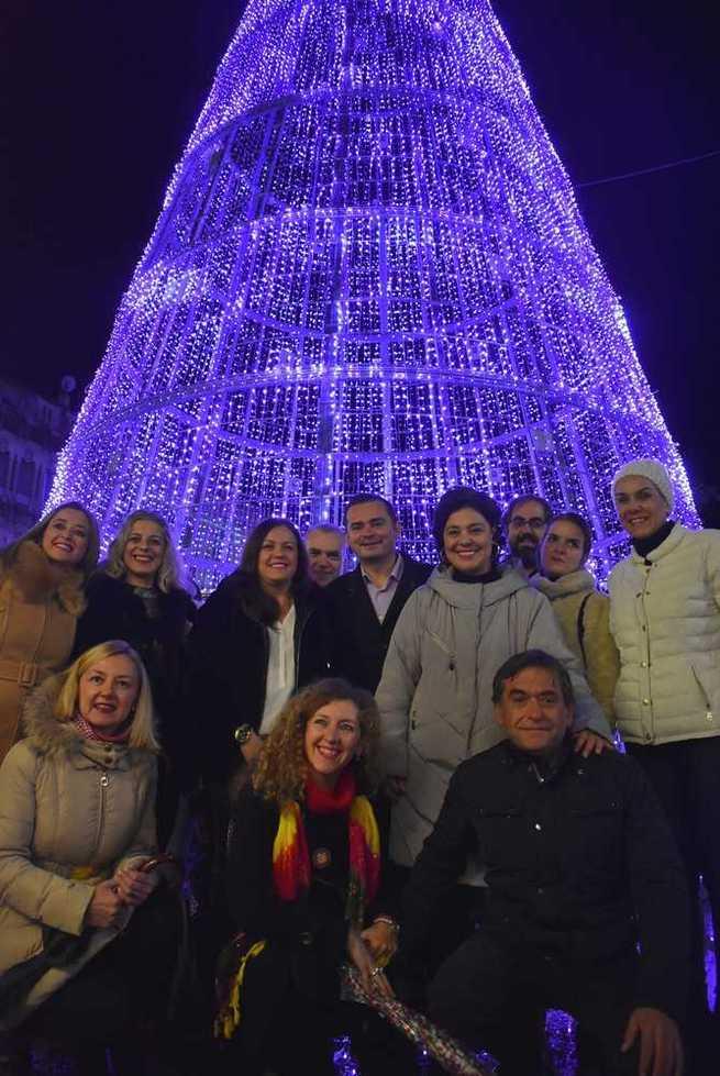 Inaugurada en Ciudad Real la iluminación con motivo de la Navidad 2019-2020