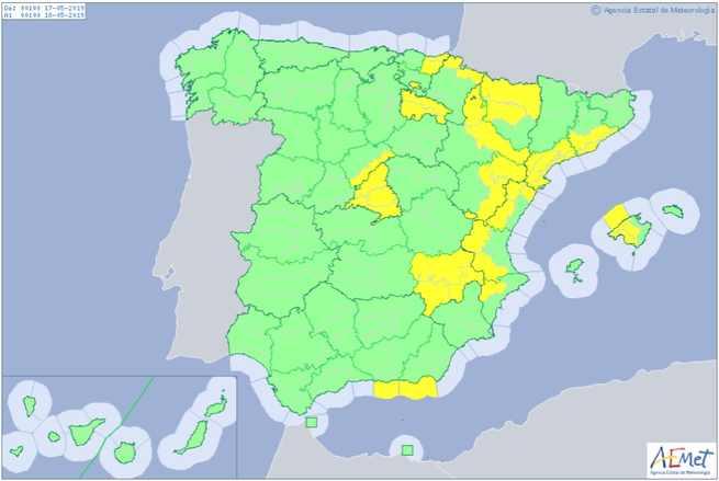 Aviso amarillo para el viernes por rachas de viento de hasta 80 km/h en la provincia de Albacete