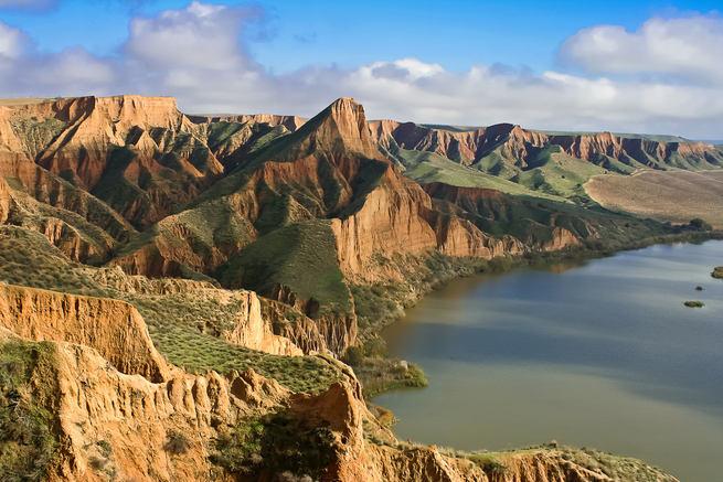 LasBarrancas de Burujon figuran entre los diez atardeceres más bonitos de España