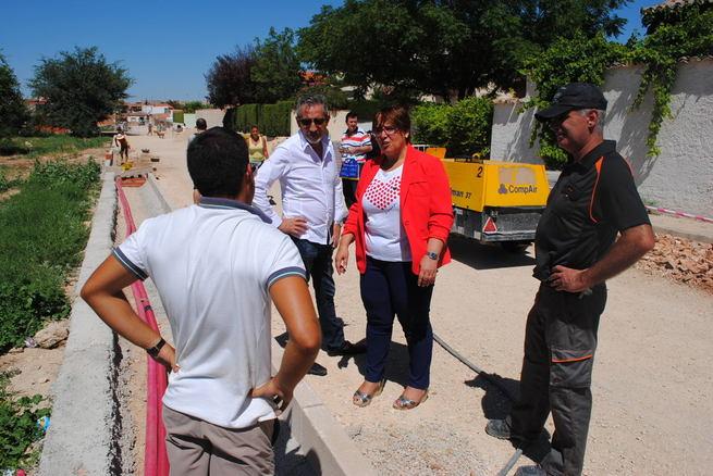 Las obras del Plan de Empleo de la calle Hierbabuena, otro punto clave del Plan de Tormentas