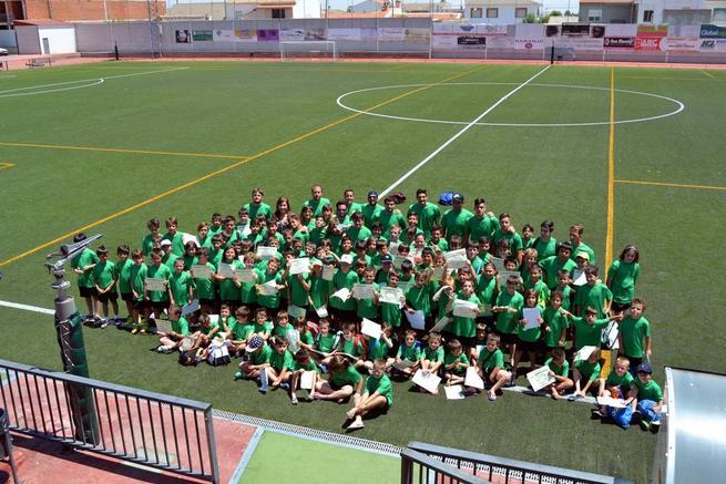 Imagen: Cierran los 4 Campus deportivos veraniegos de fútbol, gimnasia, kárate y pádel de Carrión de Calatrava
