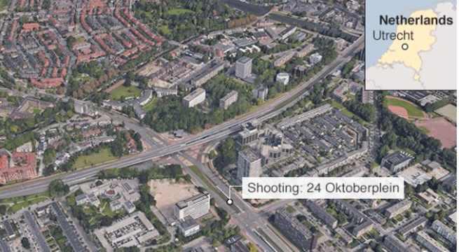 Un hombre armado abre fuego dentro de un tranvía en la ciudad holandesa de Utrecht