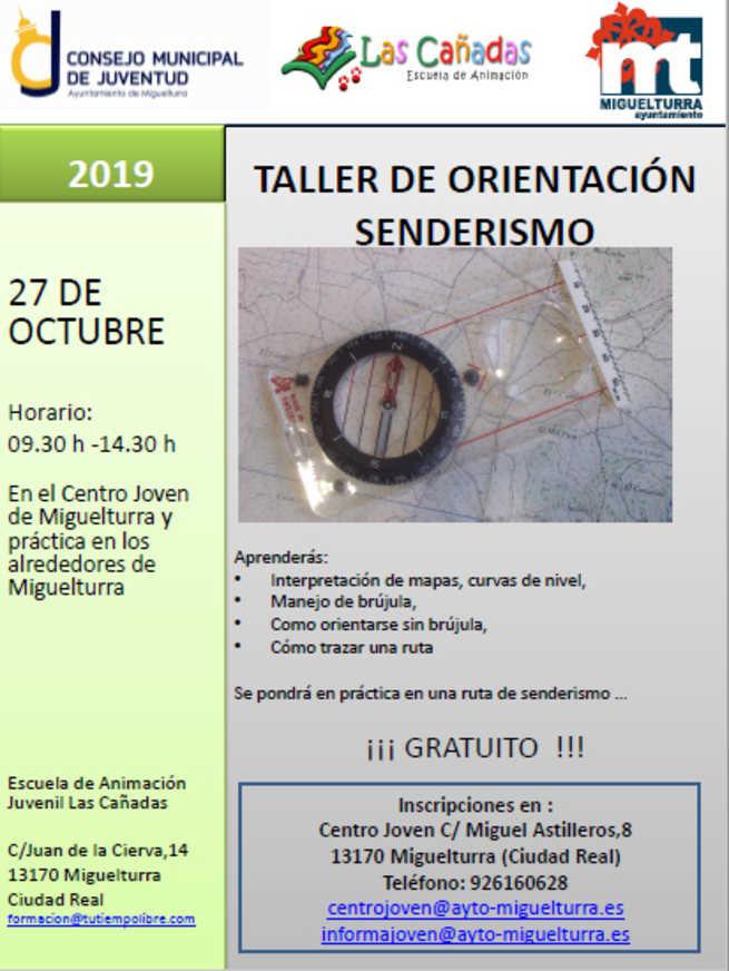 Abierto el plazo de inscripción en Miguelturra para participar en el Taller de Orientación y Senderismo