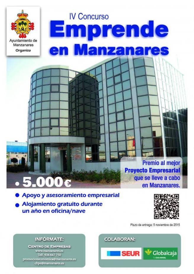 """Imagen: El plazo para presentar proyectos al concurso """"Emprende en Manzanares"""" termina el 5 de noviembre"""