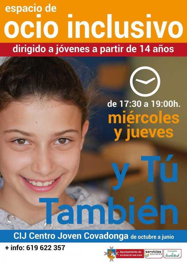 El Centro joven La Covadonga de Alcázar organiza el espacio Ocio Inclusivo dirigido a jóvenes a partir de 14 años