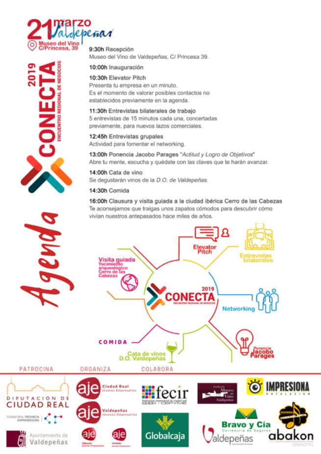 AJE celebra mañana en Valdepeñas su primer encuentro de negocios Conecta