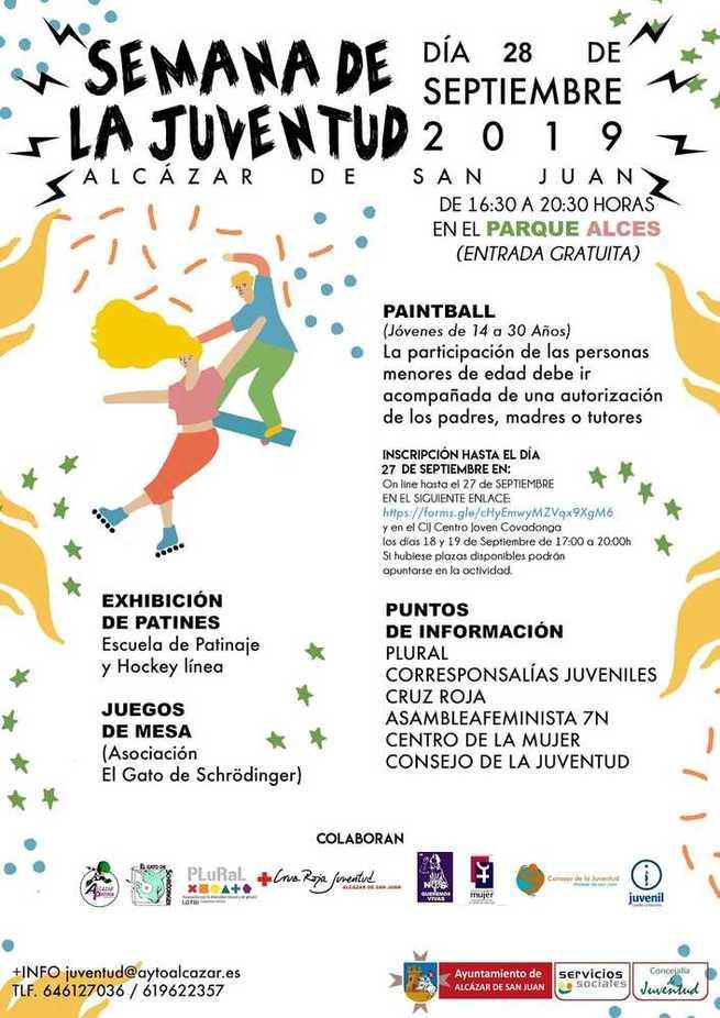 Las inclemencias meteorológicas retrasan en Alcázar las actividades del sábado de la Semana de la Juventud