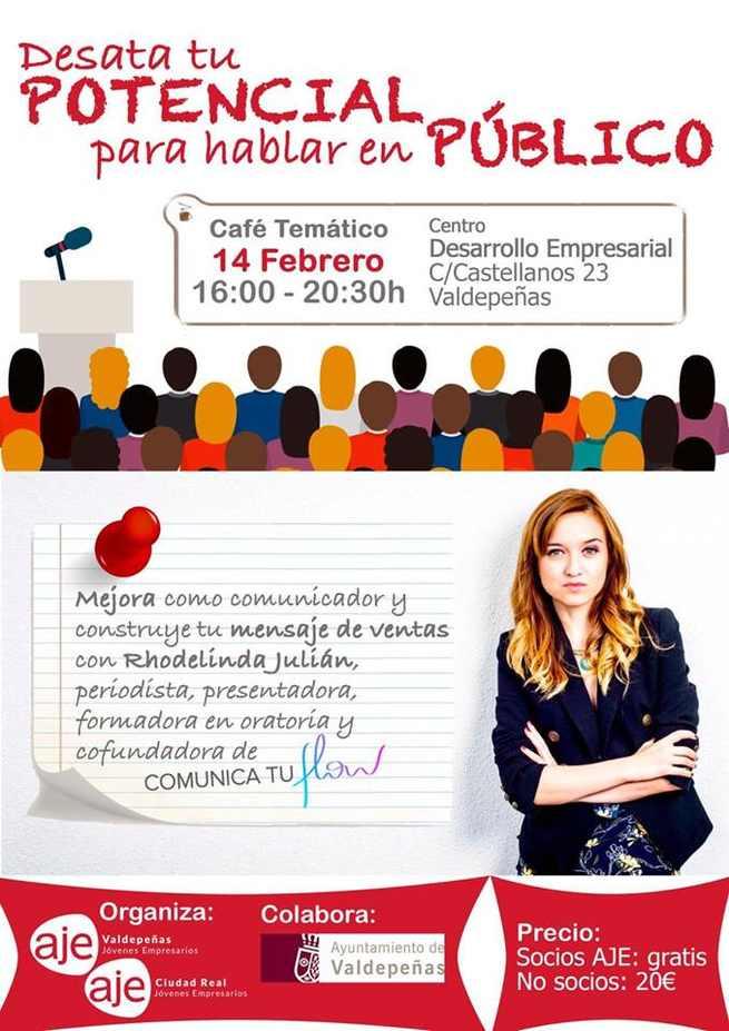 AJE Valdepeñas celebra mañana un taller para enseñar a hablar en público