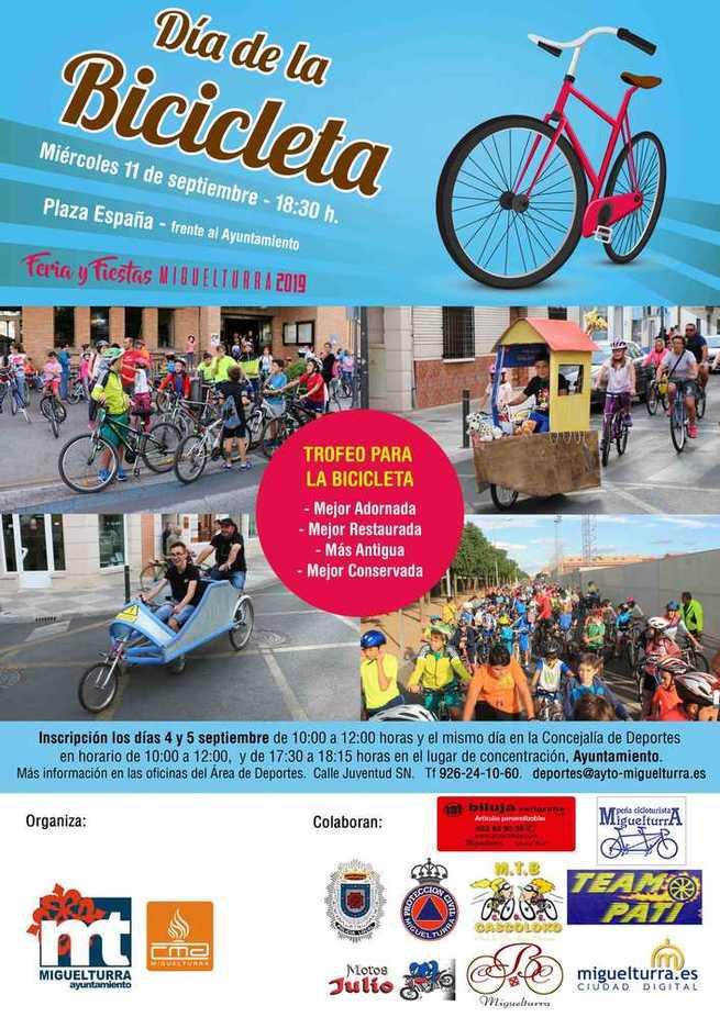 Información e inscripciones para participar en el Día de la Bicicleta, especial Feria y Fiestas Miguelturra 2019