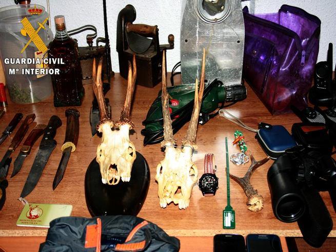 La Guardia Civil desarticula un grupo criminal especializado en robos con fuerza en fincas