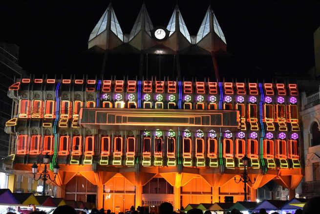 Los 40 años de la Constitución se conmemoran en Ciudad Real con un video mapping sobre el edificio del Ayuntamiento