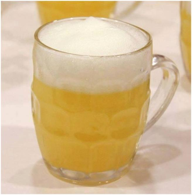Falsa cerveza de Piña y mango con espuma de Leche merengada – NANO LAVIN