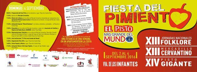 Del 2 al 4 de septiembre se celebra en Villanueva de los Infantes la XIV Fiesta del Pimiento