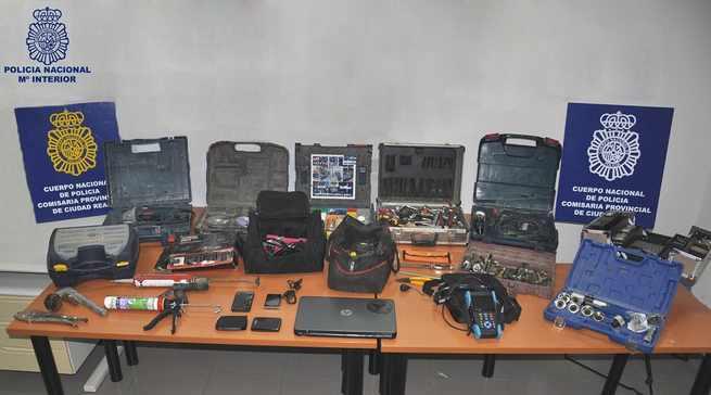 Detenidas cuatro personas por robos con fuerza en vehículos de empresas de Ciudad Real y Puertollano