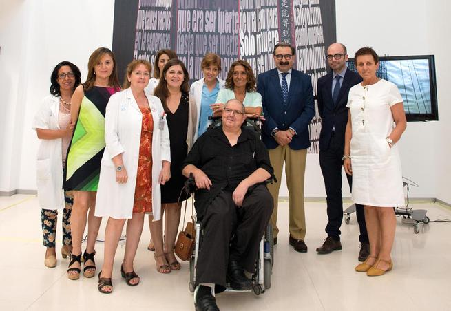 Imagen: El Hospital de Nacional de Parapléjicos abre sus puertas a la obra del artista y ex paciente Ángel Baltasar