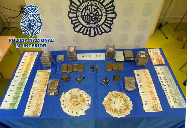 Once detenidos, siete kilos de hachís intervenidos y cuatro puntos de droga desarticulados en Albacete