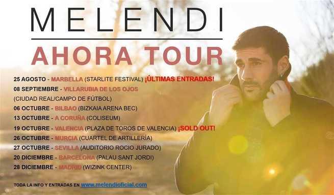 Melendi inicia su nueva gira española, que le llevará a Villarrubia de los Ojos el 8 de septiembre