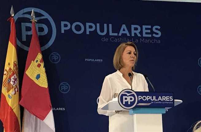 """Cospedal deja la Presidencia del PP en C-LM pidiendo un relevo """"sereno y tranquilo"""""""