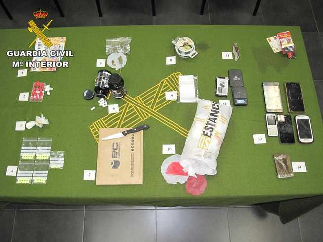 La Guardia Civil de Cuenca detiene a dos hombres por tráfico de drogas en la provincia