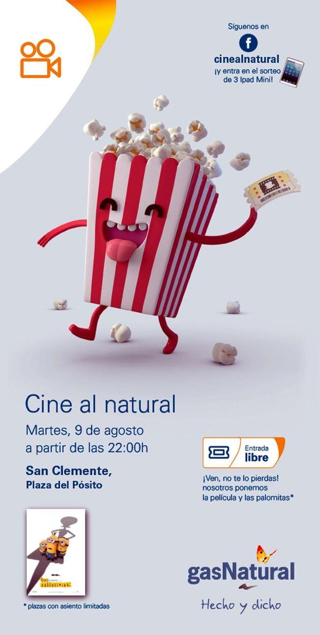 Gas Natural Castilla-La Mancha organiza una sesión de 'Cine al Natural' en San Clemente (Cuenca)