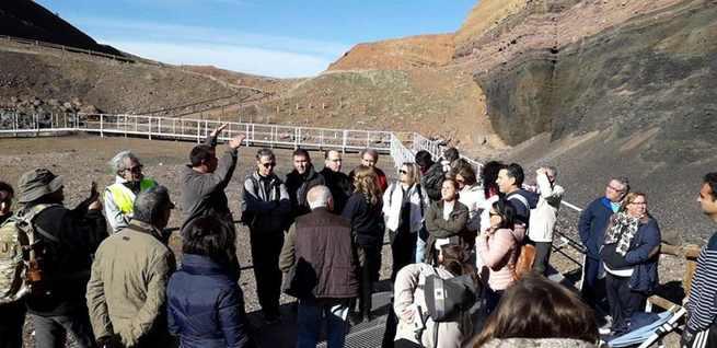 Inaugurado el Sendero Internacional de los Apalaches España que finaliza en el volcán de Cerro Gordo, en Granátula de Calatrava
