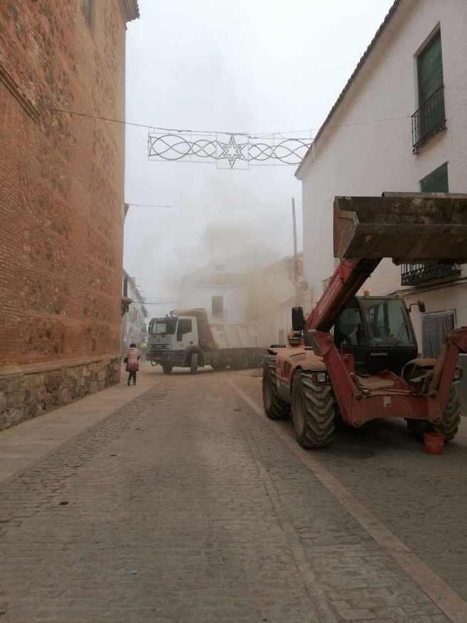 Descontento del Grupo Municipal Popular de Almagro ante las obras que se están realizando en la calle Feria en plena Navidad
