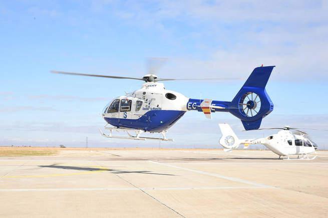 Tienen que rescatar a un piloto de helicóptero tras sufrir un accidente en Albarracín (Teruel)