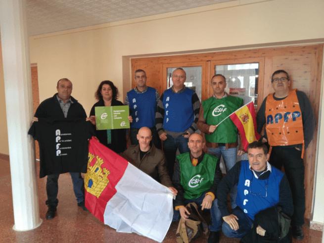 Segundo encierro de funcionarios de prisiones en Herrera de La Mancha y Alcázar por la equiparación salarial
