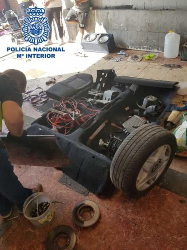Desarticulado un grupo criminal especializado en el robo de vehículos para su posterior despiece y venta de piezas