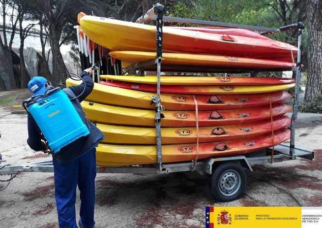 La Confederación Hidrográfica del Tajo amplía el servicio de desinfección de embarcaciones para la prevención de la entrada de mejillón cebra