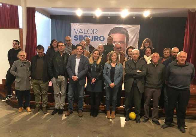 Miguel Ángel Valverde y Lola Merino participan en un acto electoral en Alcolea (Ciudad Real)