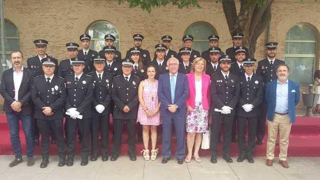 La concejala de Policía asiste a la clausura de los cursos de Formación para Policías Locales, que han superado 4 agentes de Alcázar