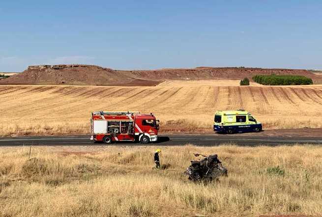 Fallece el conductor de un vehículo tras salirse de la vía en Villanueva de los Infantes