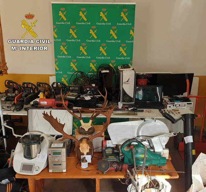 La Guardia Civil detiene a siete personas por varios robos cometidos en diferentes localidades de la provincia de Ciudad Real