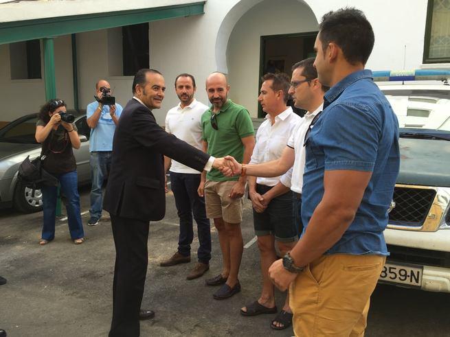 Gregorio felicita a la Guardia Civil y la Unidad de Seguridad Ciudadana por las actuaciones en Argamasilla de Calatrava