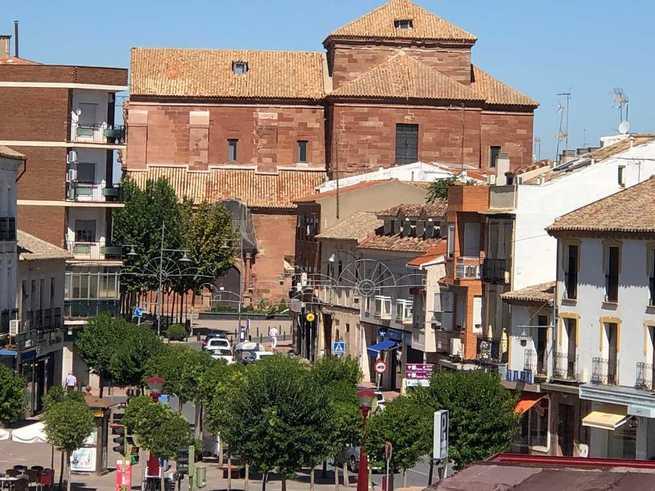 Corte al tráfico en la Plaza de Santa Quiteria de Alcázar de San Juan