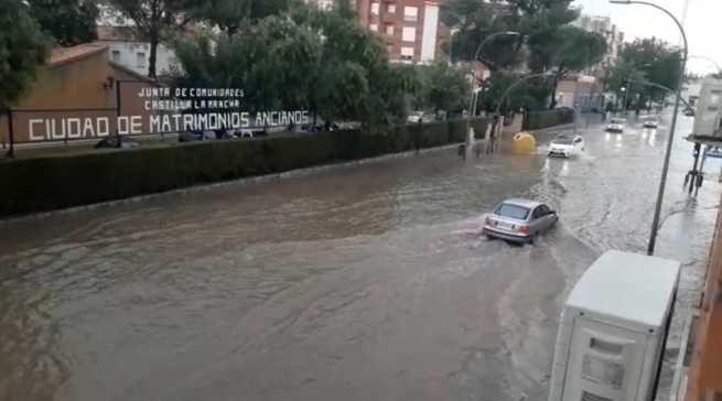 Un total de 67 incidencias registradas en Ciudad Real por el 1-1-2 tras una gran tromba de agua