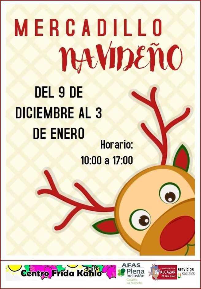 Mercadillo navideño en el Frida Kalho de Alcázar de San Juan