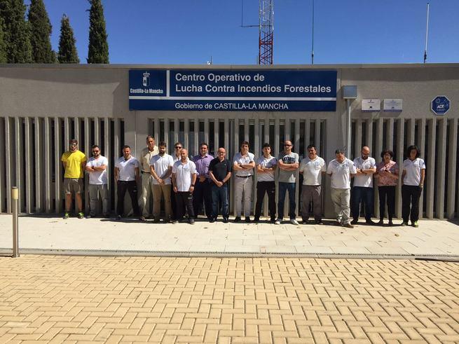 Minuto de silencio en los centros operativos provinciales y regional de lucha contra incendios forestales por el agente fallecido en La Palma
