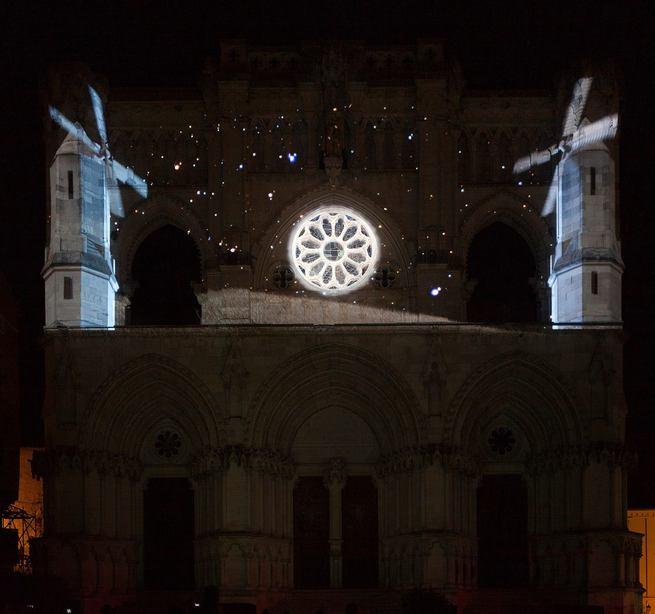 Más de 12.000 personas han asistido a las sesiones del video mapping 'La poética de la libertad' sobre la fachada de la Catedral de Cuenca