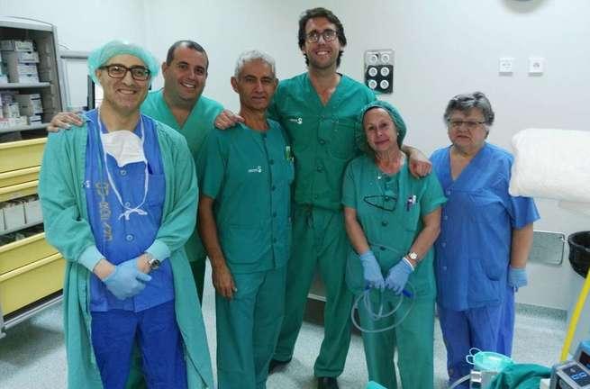 El Hospital de Ciudad Real practica con éxito la primera intervención por vía endoscópica para extirpar un tumor en el cuello del apéndice