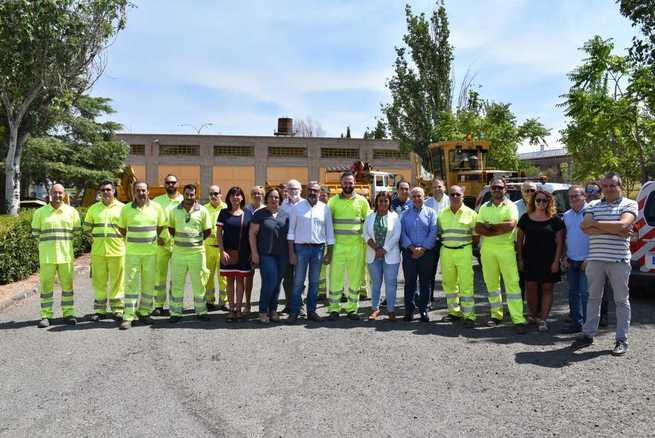 La consejera de Fomento destaca la labor de las Brigadas de Carreteras de la provincia de Ciudad Real en el mantenimiento y conservación