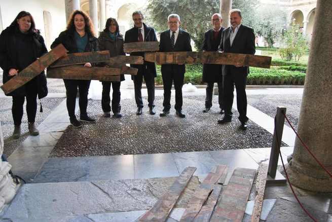 Halladas en Toledo unas tablas policromadas de finales del XV que muestran una parte poco conocida de las artes decorativas de la ciudad en la época