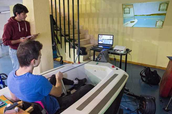 El Hospital Nacional de Parapléjicos integra un simulador virtual de vela adaptada como terapia para pacientes con lesión medular