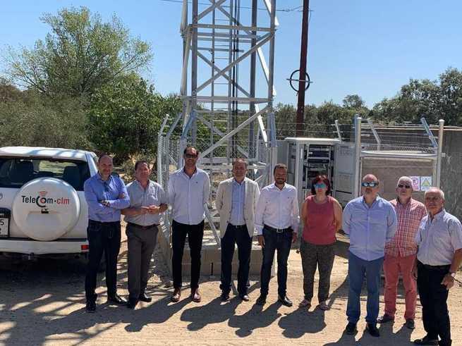 Inaugurada una nueva antena de telecomunicaciones de banda ancha en la localidad toledana de Marrupe