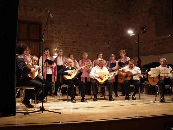 La Rondalla de Sigüenza interpretó anoche en El Pósito su concierto de Navidad