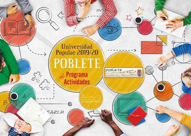 Récord de participación en la Universidad Popular de Poblete, con casi 850 alumnos apuntados, la tercera parte de su población